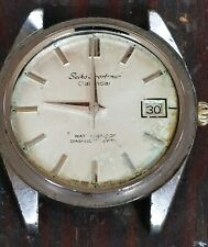 VTG 1960's SEIKO WATCH SPORTSMAN DIASHOCK 17J CALENDAR 6602B 99715 - Works Parts