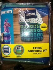 Fortnite Boogie Twin/Full Reversible Comforter & Sham Set