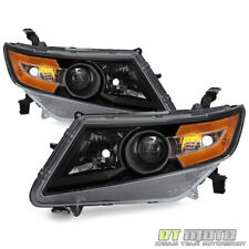 For Blk 2011-2015 Honda Odyssey Headlights Headlamps Replacement Pair Left+Right