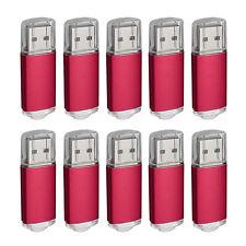 10X 4GB USB Stick 2.0 Flash Thumb Drive Metal Data Memory LED Lightning Pen Bulk