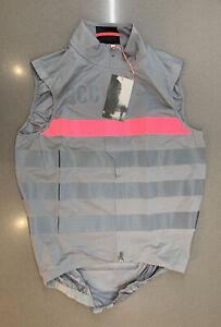 Rapha RCC Pro Team Lightweight Rain Gilet Grey High-Vis Pink Medium New Tag