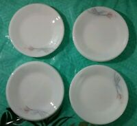 Set of 8 Mini Dining Plates Desert Saucers White Floral Flowers Unbranded Pyrex?