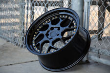 Aodhan DS01 18x10.5 +15 5x114.3 Gloss Black Staggered (Set of 4)