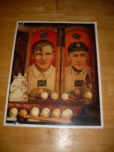 1993 Christy Mathewson and Ty Cobb first edition print with certification