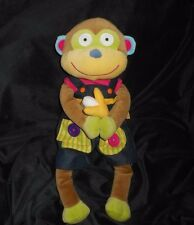 """18"""" ALEX LITTLE HANDS BABY MONKEY LEARN TO DRESS BROWN STUFFED ANIMAL PLUSH TOY"""