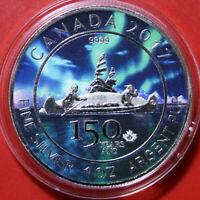 Kanada 5 Dollars 2017 1 Unze Silber ST-BU Maple Leaf  Colored #F3685 Nur 1.500!!