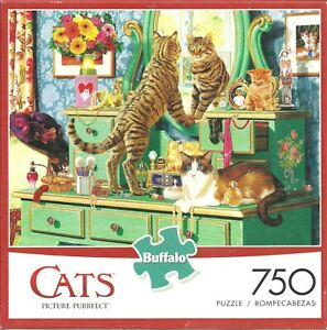 PICTURE PURRFECT - CATS - Complete - BUFFALO GAMES PUZZLE