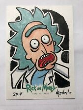 Rick and Morty Season 2 Sketch Card By Bruce Gerlach (Rick Sanchez)