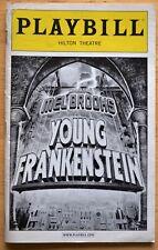 """""""YOUNG FRANKENSTEIN"""" Roger Bart~Beth Leavel~Shuler Hensley~NYC~ 2008 Playbill"""