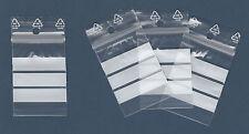 *** 100 Sachets ZIP bandes blanches *** 50 µ - Pochettes 4x6 (40x60) /// 4=5 !!!