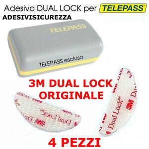 Dual lock SJ 3560 3M adesivo 4 pezzi singoli GOPRO TELEPASS CRUSCOTTO