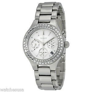 DKNY Chambers Silver-Tone Stainless Steel Chronograph Women's Watch NY2258