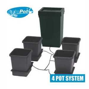 AutoPot 4 Pot System. 47 Litre Tank & 15 Litre Pots. Self Watering. Hydroponics.
