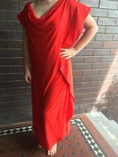 Donna Karan DKNY Red Shift Dress With Cowl Neck bombshell shift US 14/Aus 18
