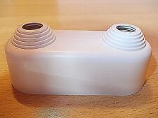 Doppelrosette 2-teilig, Rohrabstand 50mm hoch für Rohre mit ø 10-22 mm Simplex