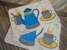 Italian Coffee Pattern Place Mats Set of 2 placemats New 13 x17