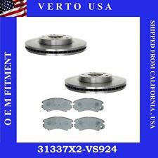 Front Brake Rotors & Pads Fit Hyundai Tiburon 2003-2008 , Tucson 2005-2009