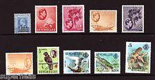Seychelles Mid century 49* 133* 134* 136* 141* 162* 198* 397* 399 Θ  F/VF Cv $24