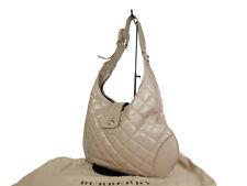 BURBERRY Leather Beige Shoulder Bag BS16875L