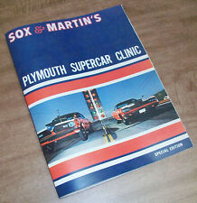 Sox & Martin Plymouth Supercar Clinic 28pp Book Nhra Road Runner, Hemi Drag Race