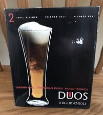 Luigi Bormioli DUOS Double-Wall Glass Pilsner, 15 oz., Clear, 2 Glasses