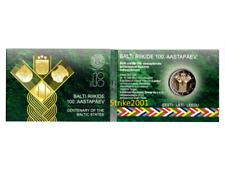 NEW !!! COIN CARD 2 EURO COMMEMORATIVO ESTONIA 2018 Stati Baltici Indipendenti