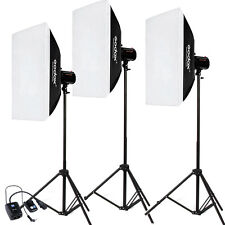 Godox 3* 200W 600W 50x70cm Softbox Photo Studio Flash Strobe light stand Kit