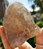 RARE NATURAL RUTILATED SMOKEY QUARTZ CLUSTER, FROM BRAZIL. CRYSTAL