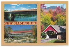 NEW HAMPSHIRE COVERED BRIDGES   POSTCARD  LNH-152  NEW