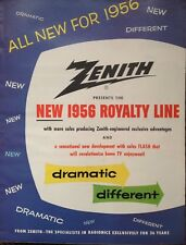 1955 AD(H18)~ZENITH RADIO CORP. CHICAGO. NEW ROYALTY LINE FOR '56  10PG AD.