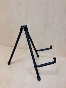Portable Haze Foldable Metal & Rubber Structure Guitar Stand, Black