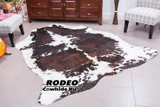 Superior quality brindle Cowhide Rug size approx 6x7 ft