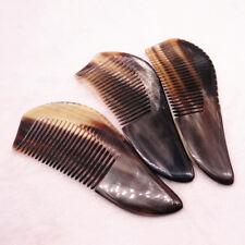 Random 1pcs Brown Natural Ox Horn Comb Antistatic Health Hair Combs 10-13cm