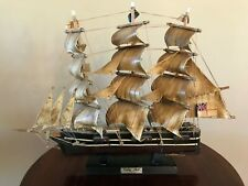 """ANTIQUE WOOD CUTTY SARK 1869 SAILBOAT - HAND PAINTED - 20"""""""