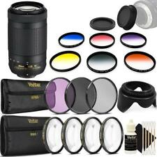 Nikon AF-P DX NIKKOR 70-300mm f/4.5-6.3G ED VR Lens and Top Bundle