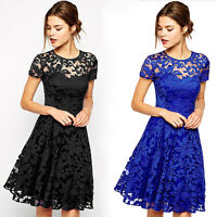 Sexy Women's Fashion Summer Lace Floral Evening Party Cocktail Short Mini_Dresso