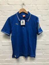 PUMA Italy Football Men's FIGC Polo Shirt - Blue - New