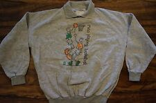 Vintage FIDO DIDO BASKETBALL ATTACHED COLLAR! Sweatshirt Shirt M/S
