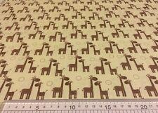 Riley Blake Giraffe Crossing The RBD Design C2852 Cream 100% Cotton Fat Quarter