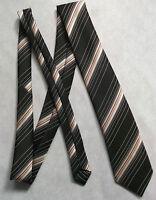 Vintage TOOTAL Tie Mens Necktie Retro 1980s Fashion BROWN STRIPED