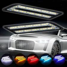 Useful 2Pcs/Set Car LED Daytime Running Light DRL Fog Lamp Daylight Blade Shape