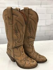 Miss Capezio Womens Vintage Western Cowgirl Leather Boots Light Brown Size 5.5 M