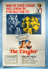1959 The Tingler Vincent Price Original One Sheet Movie Poster William Castle