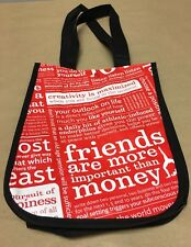 Lululemon Small Red Manifesto Shopping Tote Gym Bag Workout Yoga Travel