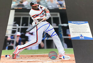 Tim Anderson White Sox Autographed Signed 8x10 Beckett Witness COA Imperfect --