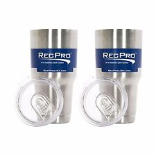 x2 RecPro 30oz Vacuum Insulated Tumbler 18/8 Stainless Steel w/ Slider Lid