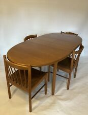 McIntosh Mid-Century Retro Teak Extendable Dining Table with 4 Matching Chairs
