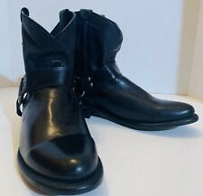 Frye Black Harness Moto Ankle Boots Size 7.5