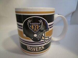 """Baltimore Ravens NFL Licensed Vintage Black & Gold 4"""" Coffee Mug Cup NEW Papel"""