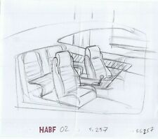 Simpsons Car Interior Original Art Animation Production Pencils HABF02 SC-257